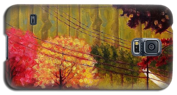 Galaxy S5 Case featuring the painting Autumn Slopes by Jason Williamson