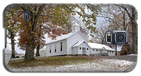 Autumn Snow And Country Church Galaxy S5 Case