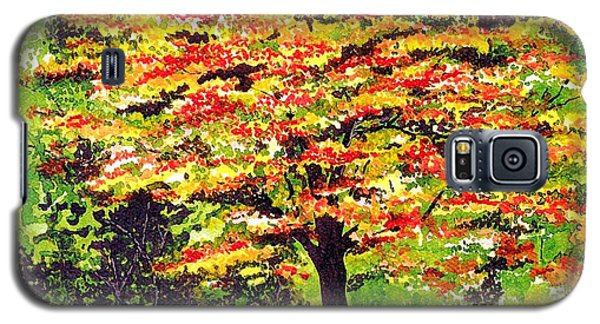 Galaxy S5 Case featuring the painting Autumn Splendor by Patricia Griffin Brett