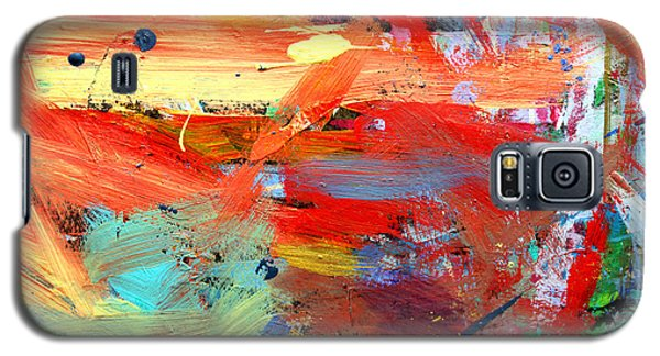 Galaxy S5 Case featuring the painting Autumn by Stacey Zimmerman