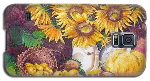 Galaxy S5 Case featuring the painting Autumn Still Life by Nina Mitkova