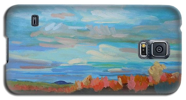Galaxy S5 Case featuring the painting Autumn Sunrise by Francine Frank
