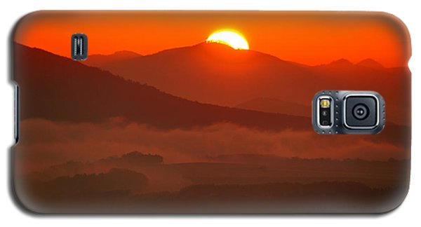 Autumn Sunrise On The Lilienstein Galaxy S5 Case