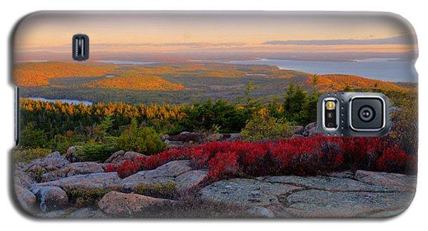 Cadillac Mountain Autumn Sunrise Galaxy S5 Case