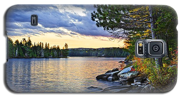 Autumn Sunset At Lake Galaxy S5 Case