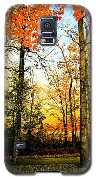 Galaxy S5 Case featuring the photograph Autumn Sunset  by Sara Frank