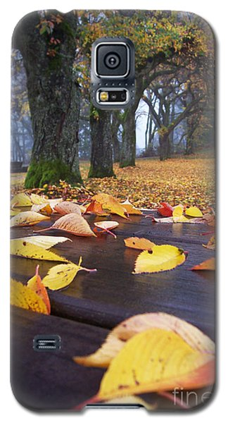 Galaxy S5 Case featuring the photograph Autumn Table by Maria Janicki