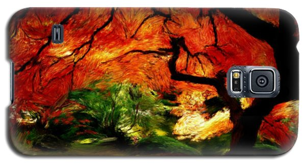 Galaxy S5 Case featuring the painting Autumn Tree by Bruce Nutting
