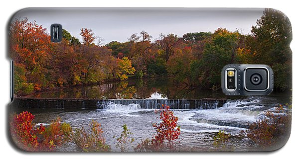 Galaxy S5 Case featuring the photograph Refreshing Waterfalls Autumn Trees On The Stones River Tennessee by Jerry Cowart