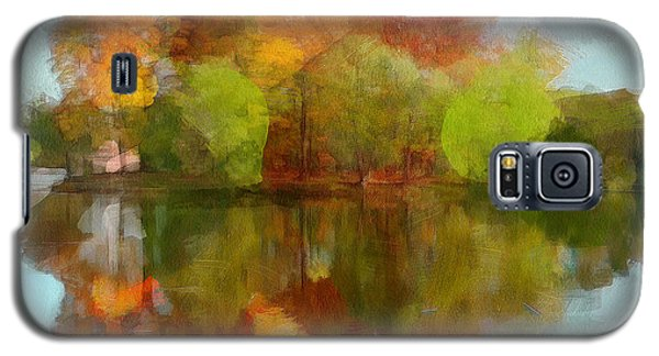 Autumn Water Reflection Galaxy S5 Case