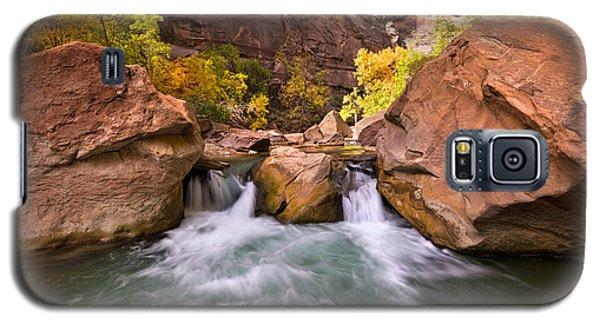 Autumn Waterfall In Zion Galaxy S5 Case