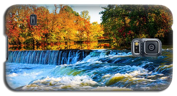 Amazing Autumn Flowing Waterfalls On The River  Galaxy S5 Case