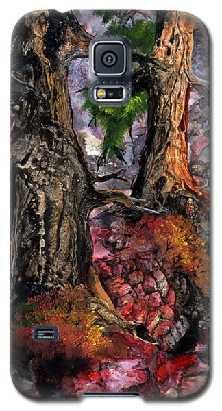 Galaxy S5 Case featuring the painting Autumn Woods by Sherry Shipley