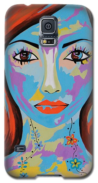 Galaxy S5 Case featuring the painting Avani by Kathleen Sartoris