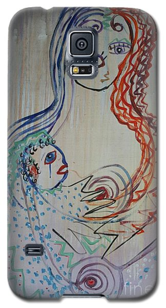 Galaxy S5 Case featuring the painting Avi's Madonna by Avonelle Kelsey