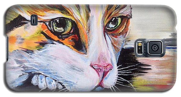 Galaxy S5 Case featuring the painting Awaiting by Iya Carson