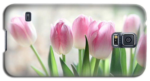 Awakening- Pale Pink Tulips Galaxy S5 Case