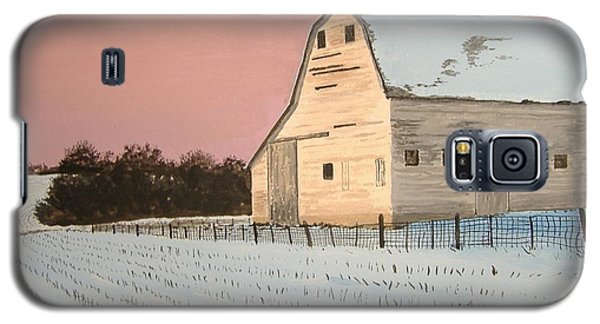 Galaxy S5 Case featuring the painting Award-winning Original Acrylic Painting - Nebraska Barn by Norm Starks