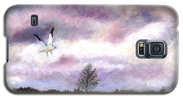 Galaxy S5 Case featuring the painting Away From The Flock by Marie-Line Vasseur