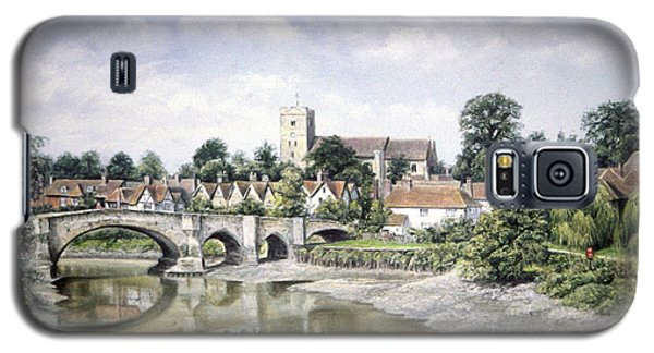 Galaxy S5 Case featuring the painting Aylesford Bridge by Rosemary Colyer
