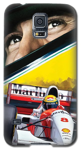 Galaxy S5 Case featuring the painting Ayrton Senna Artwork by Sheraz A