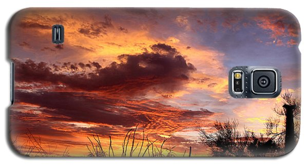 Galaxy S5 Case featuring the photograph Az Monsoon Sunset by Elaine Malott