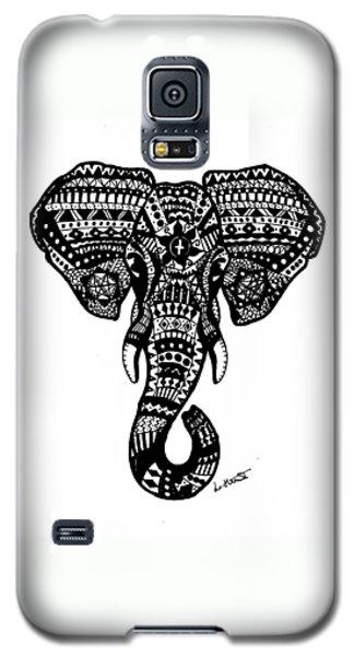 Aztec Elephant Head Galaxy S5 Case