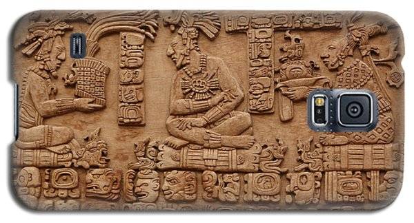 Aztec Woodcarving Tablets Galaxy S5 Case