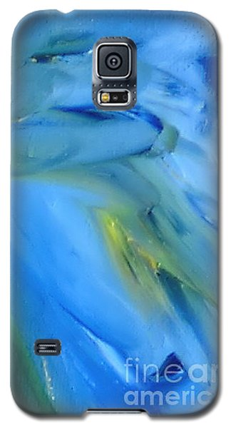 Galaxy S5 Case featuring the painting Azul by Reina Resto