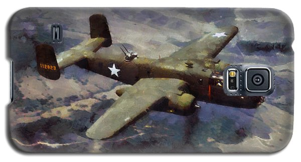 Galaxy S5 Case featuring the painting B-25 Bomber by Kai Saarto