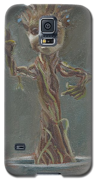 Galaxy S5 Case featuring the painting B And G Is For Baby Groot by Jessmyne Stephenson
