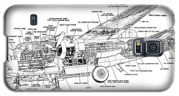 B25 Mitchell Schematic Diagram Galaxy S5 Case
