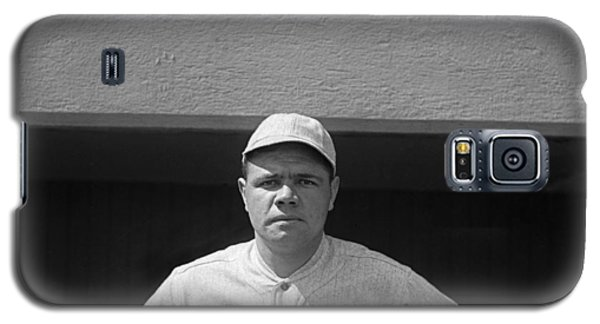 Babe Ruth In Red Sox Uniform Galaxy S5 Case by Underwood Archives