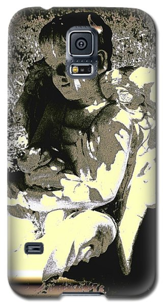 Galaxy S5 Case featuring the digital art Baby Angel With Teddy by Lisa Brandel