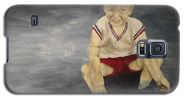 Galaxy S5 Case featuring the painting Baby Bill  by Mary Ellen Anderson