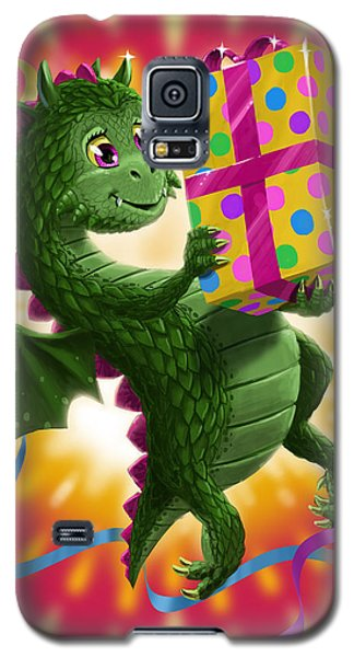 Baby Birthday Dragon With Present Galaxy S5 Case