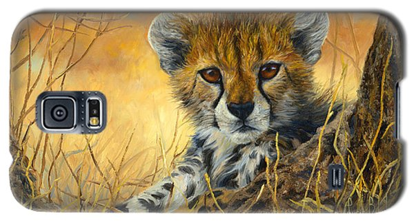 Baby Cheetah  Galaxy S5 Case by Lucie Bilodeau