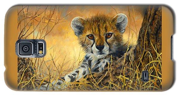 Cheetah Galaxy S5 Case - Baby Cheetah  by Lucie Bilodeau