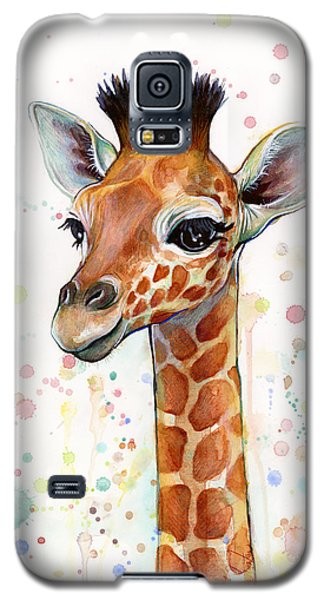 Baby Giraffe Watercolor  Galaxy S5 Case