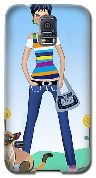 Baby Girl Galaxy S5 Case by Bogdan Floridana Oana