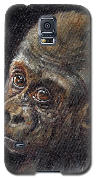 Gorilla Galaxy S5 Case - Baby Gorilla by David Stribbling