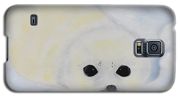 Galaxy S5 Case featuring the painting Baby Harp Seal by Bev Conover