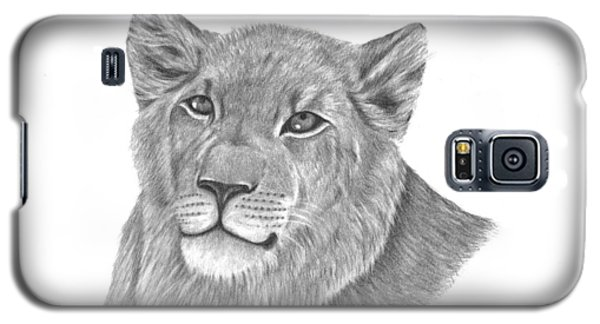 Galaxy S5 Case featuring the drawing Baby King by Patricia Hiltz