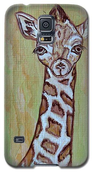 Baby Longneck Giraffe Galaxy S5 Case by Ella Kaye Dickey