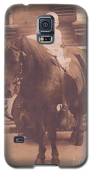 Baby On Pony Galaxy S5 Case by Anne Rodkin