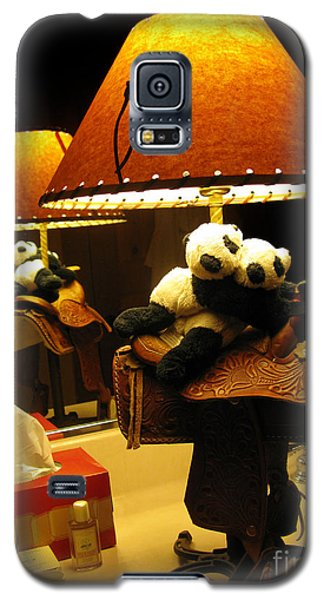 Baby Pandas In A Saddle  Galaxy S5 Case by Ausra Huntington nee Paulauskaite