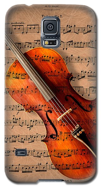 Violin Galaxy S5 Case - Bach On Cello by Sheryl Cox
