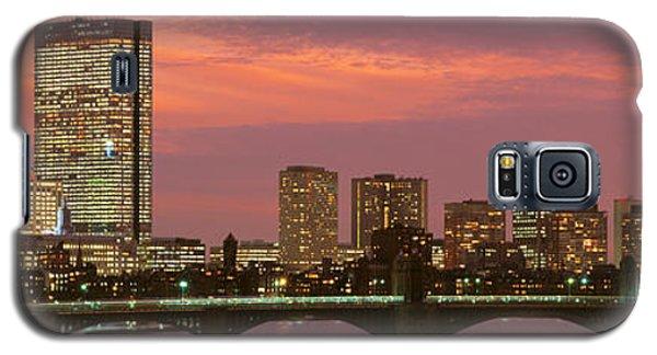 City Sunset Galaxy S5 Case - Back Bay, Boston, Massachusetts, Usa by Panoramic Images