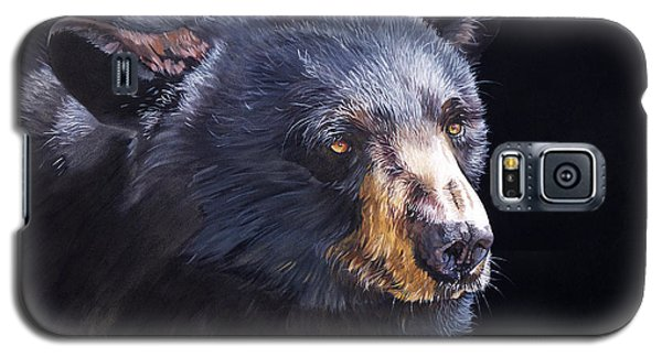 Back In Black Bear Galaxy S5 Case
