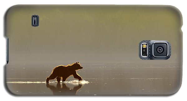 Back Lit Grizzly Galaxy S5 Case